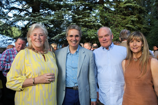 News, Shelby, M.D.Anderson in Aspen, July 2015, Nancy Dunlap, Dr. Ron DePinho, Clint and Nancy Carlson