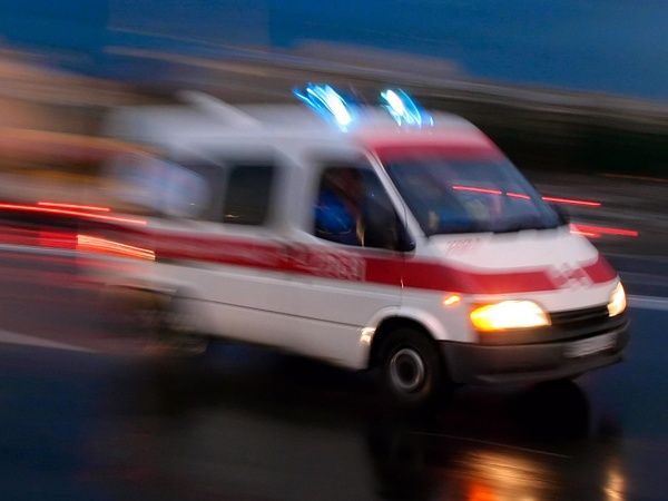 ambulance, blurry