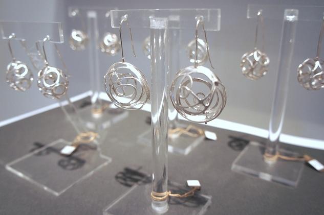 Goldesberry Gallery, jewelry exhibit, retirement show, December 2012, earrings