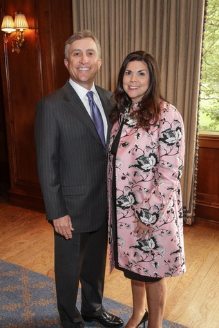 Tom and Lesha Elsenbrook at the Houston Hospice butterfly luncheon April 2015
