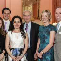 Vanessa and Eduardo Sanchez, from left, Viviana and David Denechaud and Megan and Drew Morris at the Breakthrough Houston luncheon February 2015