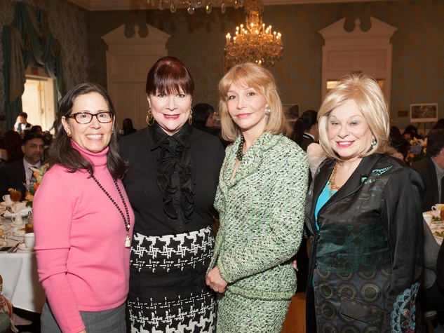 Diana Untermeyer, from left, Barbara VanPostman, Susan Boggio and Sidney Faust at the Interfaith Ministries luncheon January 2014