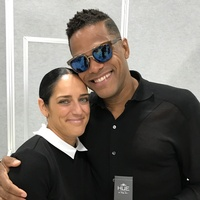 Jennifer Estrada and Maxwell at Cosmoprof 2017