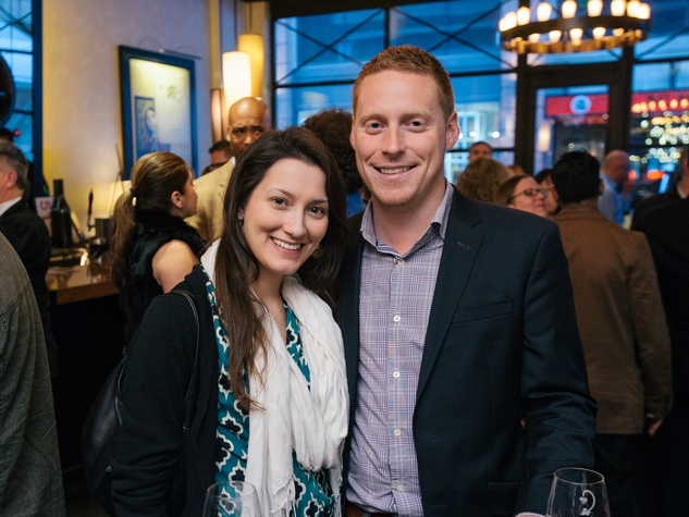 5 Elizabeth O'Dowd and Matt Young at the Artesa wine tasting at Cru March 2014