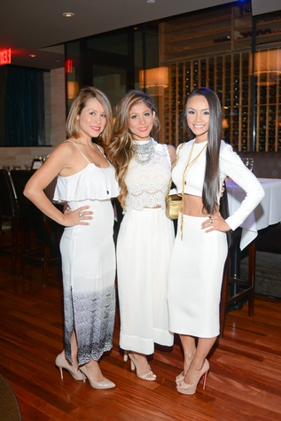 71 Perla Pecue, from left, Judy Hernandez and Hong Bui at the White Hot Summer Night Party at Eddie V's August 2014