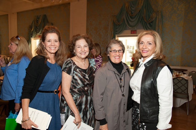Mary Alice Parmet, from left, Joann Crassas, Mariquita Masterson and Cynthia Christ at the Art of Conversation November 2014