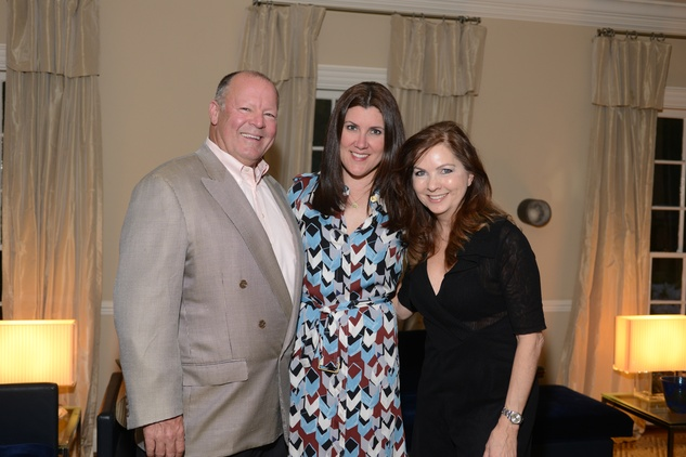 13 Matt Whitaker, from left, Ronda Rice Carman and Lauren Rottet at the Houston Design Center Spring Market pre-party at Lauren Rottet's home April 2014