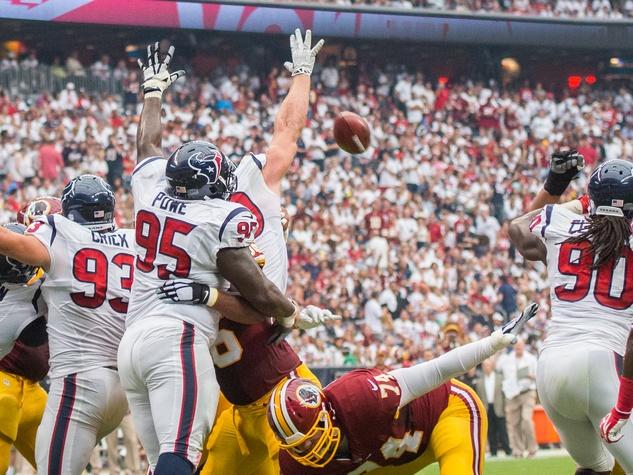 Texans Skins field goal block