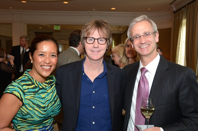 7 Dr. Gildy Babiera, from left, Dana Carvey and Dr. Fred Lang at the Broach Foundation Gala May 2014