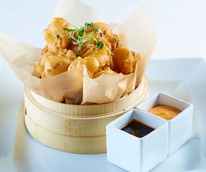 Tempura cauliflower at House of Blues Foundation Room