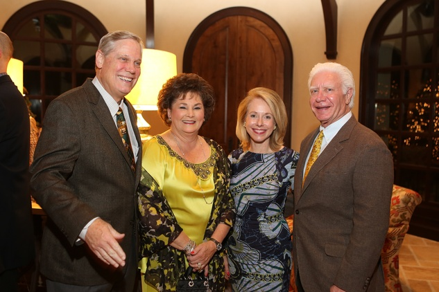 Corbin Robertson Jr., from left, Barbara Robertson, Janet Tallerine and Leonard Tallerine Jr. at St. Luke's holiday party December 2014
