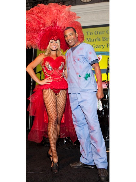2 chita johnson and len cannon at the easter seals the bash october 2013 - Meteorologist Halloween Costume