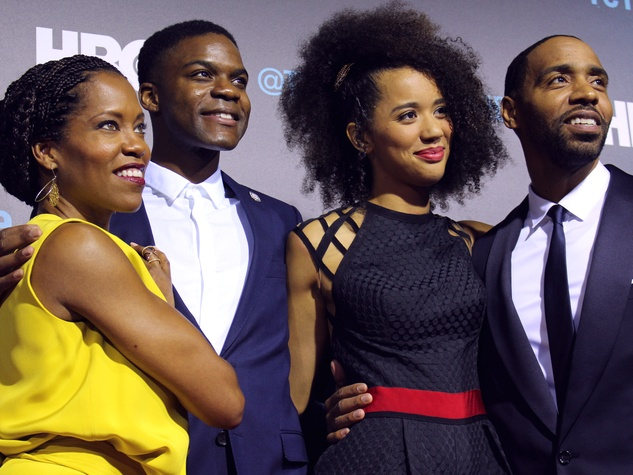 The Leftovers HBO Season 2 red carpet premiere Regina King Jovan Adepo Jasmin Savoy Brown Kevin Carroll October 2015