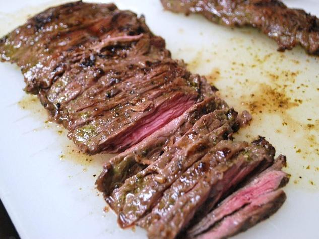 skirt steak cooked fajitas