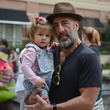 22 Grant Cooper and daughter Gjelina at Punk's Street Carnival February 2014