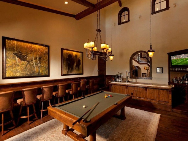 On the Market 15 Grand Regency Circle Enron mansion The Woodlands January 2015 game room