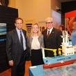 2 5466 Mike Morris, from left, Jessica Shaver and Dean Corgey at the Port of Houston library exhibition celebration September 2014