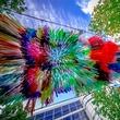 Houston, Discovery Green, Arcade art installation, August 2017