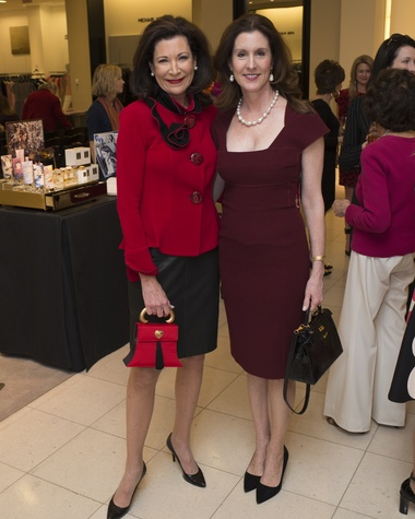 48 Betty Hrncir, left, and Phoebe Tudor at Houston Sweethearts at Saks February 2015