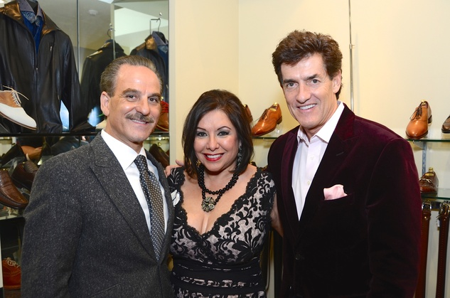 Rudy and Debbie Festari, left, with Nick Florescu at the Festari Holiday Party December 2014