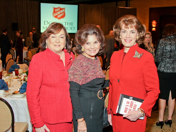 Salvation Army luncheon, November 2012, Rose Cullen, Linda McReynolds, Jeanie Kilroy