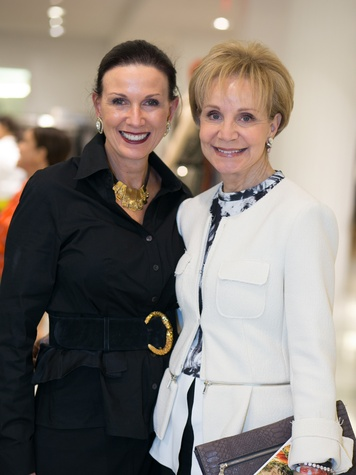 Karen Love, left, and Leisa Holland Nelson at the Latin Women Initiative's kick-off luncheon February 2014