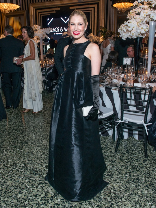 News, Shelby, MFAH gala gowns, Oct. 2015 Isabel David in Olivier Theyskens