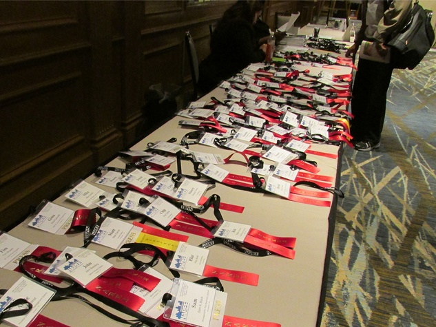 National Association of Real Estate Editors conference sign-in table June 2014