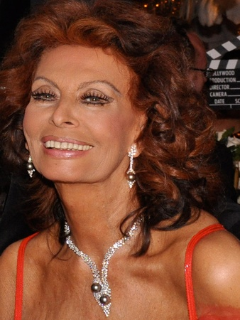 Sophia Loren, head shot, 2009