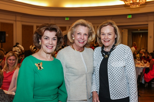 59 Jeanie Kilroy, from left, Elise Joseph and Anne Duncan at the Salvation Army luncheon April 2014