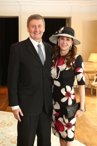 13 Tom and Liz Glanville at Hats Off to Mothers luncheon March 2015
