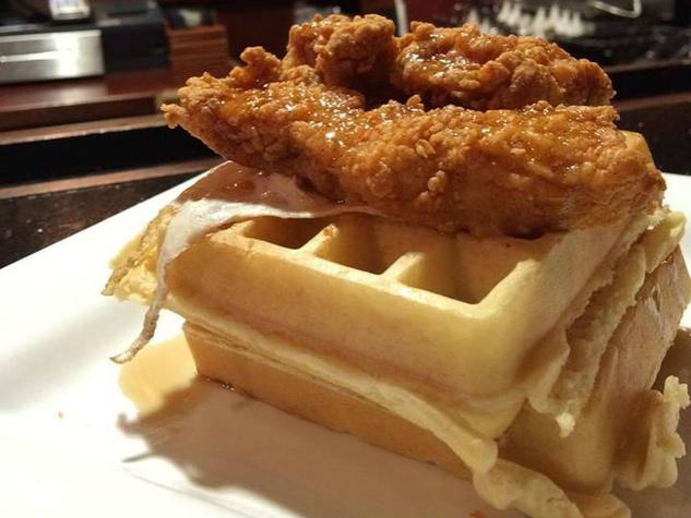 Chicken & waffles, Jerrett Joslin