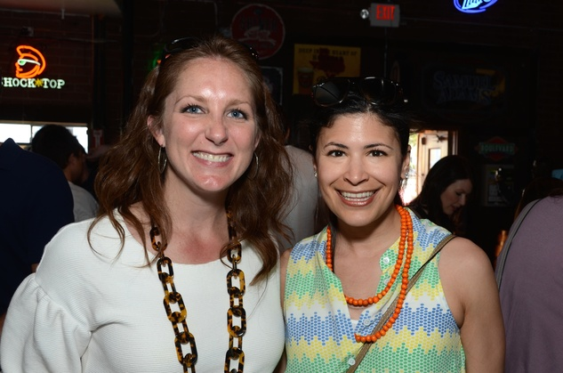 Lindsey Brown, left, and Kristy Bradshaw at the Women of Wardrobe Spring Fling March 2014