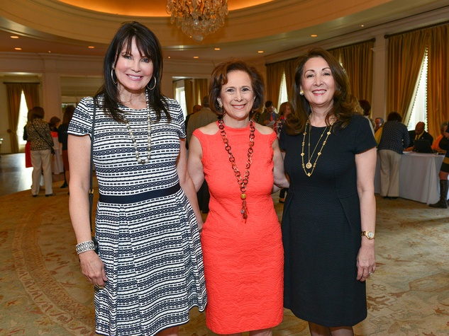 Carol Donnally, from left, Franelle Rogers and Penny Loyd at the On the Move luncheon March 2014
