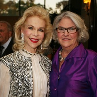 Lynn Wyatt, left and Rebecca Eaton at Masterpiece Evening April 2014