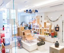 Interior of TenOverSix boutique in Dallas