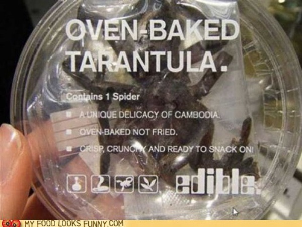 News_My Food Looks Funny_tarantula_spider