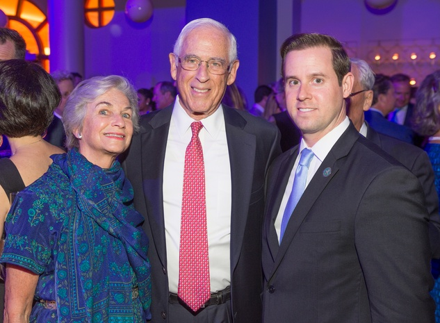 News, SHelby, Gerald Hines 90th birthday, Sept. 2015, Anne and John Mendelsohn, Chris Brown