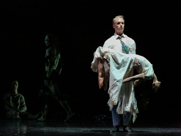 Karina Gonzalez and Christopher Gray in Houston Ballet's Ghost Dances