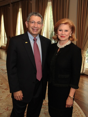 Baylor Friends dinner, October 2012, Dr. Paul Klotman, Jan Duncan
