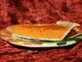 Slice of sweet potato pie from Sweet Potato Shop in Plano