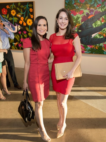 Veronica Roper, Junior Associates co-chairman, Stephanie Gayse, affair of the art kickoff