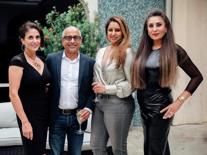 Back Sarghi Sharma, Jessie Mann, Poonam Thandi, Amrit Thandi at Little Black Dress Designer 2017