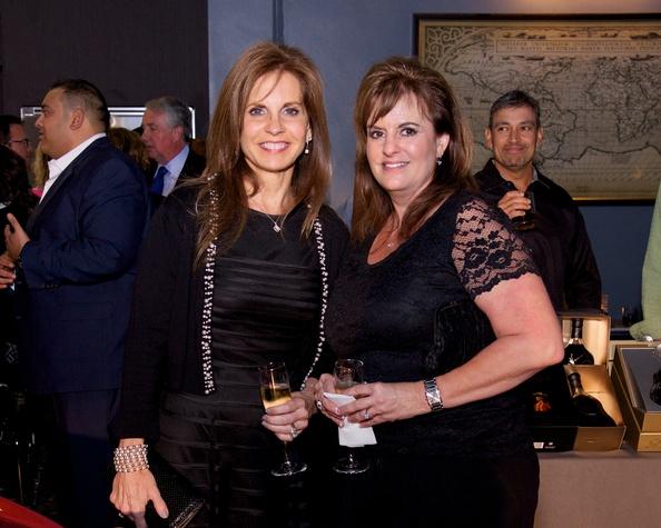Brenda McDuffy and Dalal Murgai at fashion preview party at The Woodlands