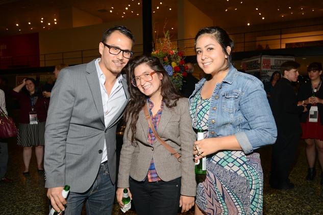 Mario Kazaz, from left, Tere Garcia and Laura De Leon at the Houston Cinema Arts Festival opening night party November 2013