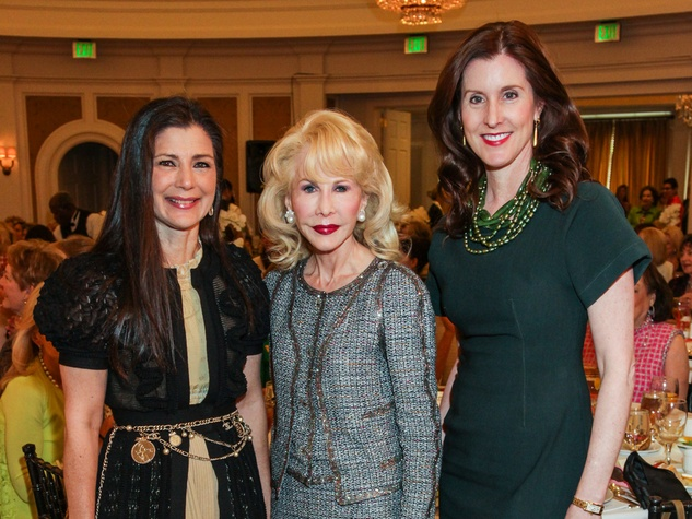 62 Cynthia Petrello, from left, Diane Lokey Farb and Phoebe Tudor at the Salvation Army luncheon April 2014