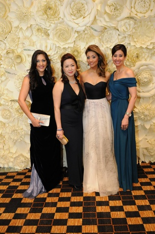 9002 Dr. Sippi Khurana, from left, Tammy Tran Nguyen Rita Garcia and Perri Palermo at the KNOWAutism Gala February 2015