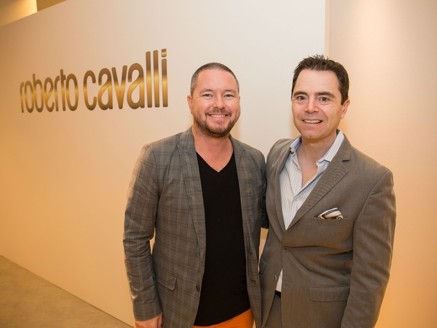 Roberto Cavalli fall fashion show DKR Fund benefit 2016 Matt Swinney Rob Giardinelli