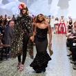 Houston, MFAH Fashion Fusion 2017, May 2017, Ebonie Sophus with model
