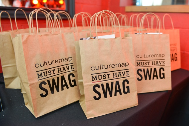 "33 CultureMap ""Must Have Swag"" bags at the CultureMap Social at Boheme September 2014"